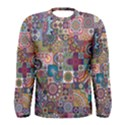 Ornamental Mosaic Background Men s Long Sleeve Tee View1