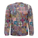 Ornamental Mosaic Background Men s Long Sleeve Tee View2