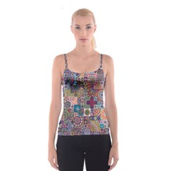 Ornamental Mosaic Background Spaghetti Strap Top