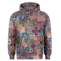 Ornamental Mosaic Background Men s Pullover Hoodie