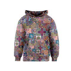 Ornamental Mosaic Background Kids  Pullover Hoodie