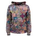 Ornamental Mosaic Background Women s Pullover Hoodie View1