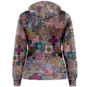 Ornamental Mosaic Background Women s Pullover Hoodie View2