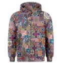 Ornamental Mosaic Background Men s Zipper Hoodie View1