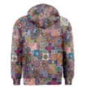 Ornamental Mosaic Background Men s Zipper Hoodie View2