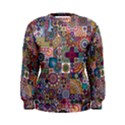 Ornamental Mosaic Background Women s Sweatshirt View1