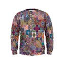Ornamental Mosaic Background Kids  Sweatshirt View1