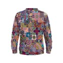 Ornamental Mosaic Background Kids  Sweatshirt View2