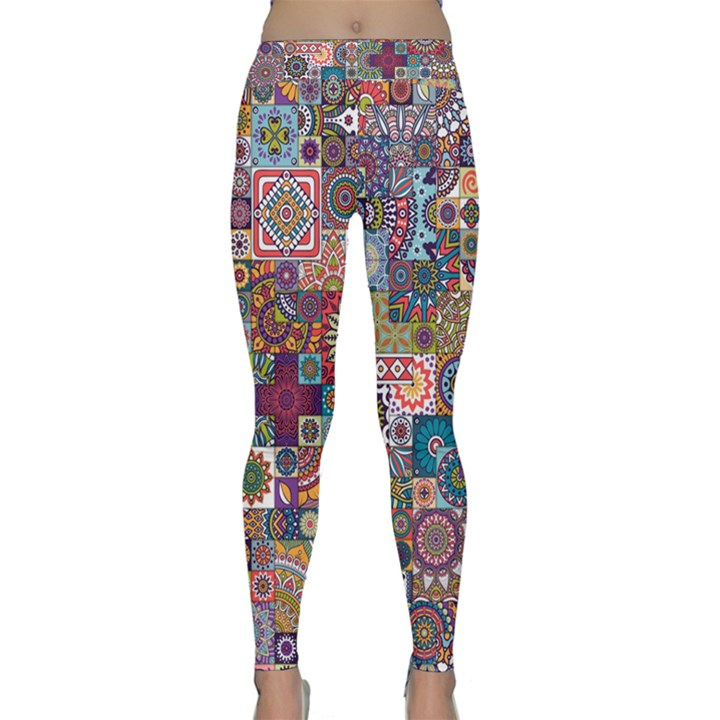 Ornamental Mosaic Background Yoga Leggings