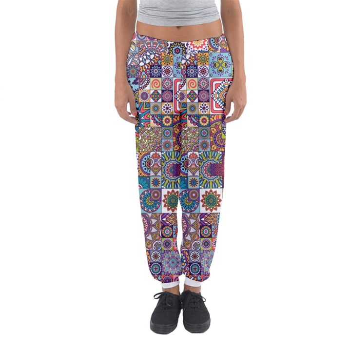 Ornamental Mosaic Background Women s Jogger Sweatpants