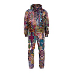 Ornamental Mosaic Background Hooded Jumpsuit (Kids)