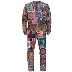 Ornamental Mosaic Background OnePiece Jumpsuit (Men)