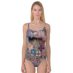 Ornamental Mosaic Background Camisole Leotard