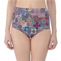 Ornamental Mosaic Background High-Waist Bikini Bottoms View1