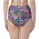 Ornamental Mosaic Background High-Waist Bikini Bottoms View2