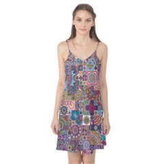 Ornamental Mosaic Background Camis Nightgown
