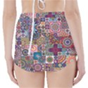 Ornamental Mosaic Background High-Waisted Bikini Bottoms View2