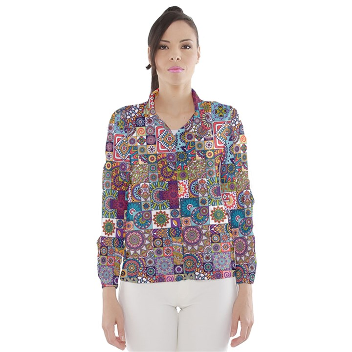 Ornamental Mosaic Background Wind Breaker (Women)