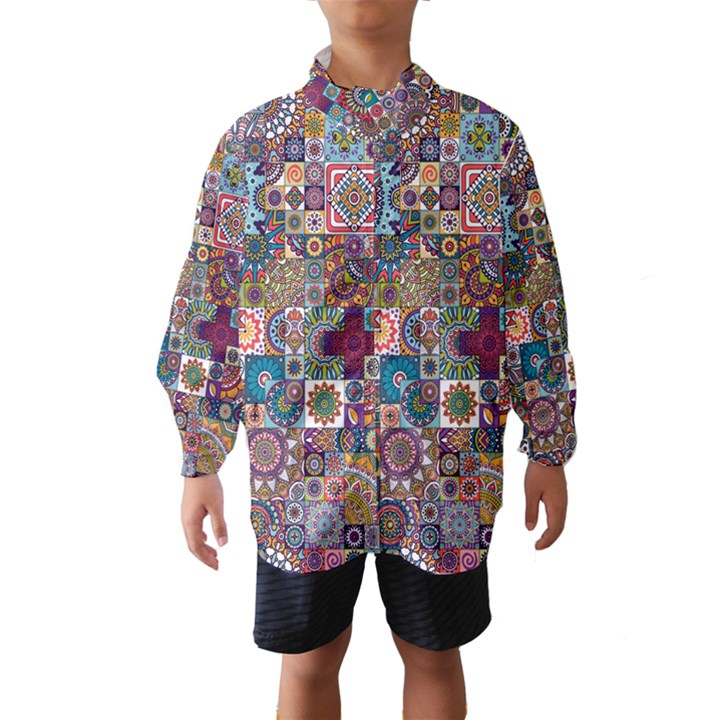 Ornamental Mosaic Background Wind Breaker (Kids)