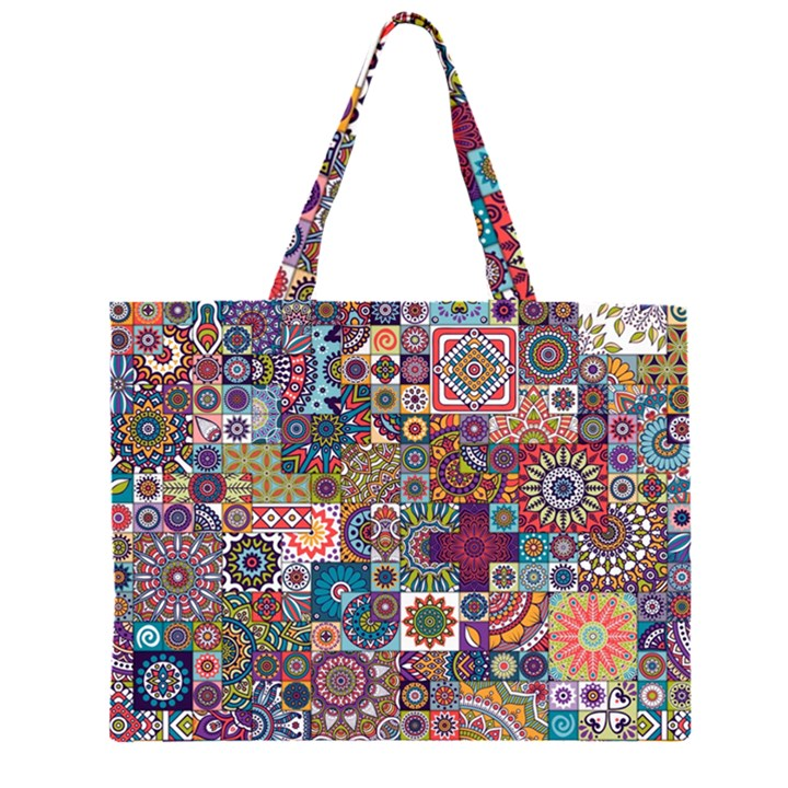 Ornamental Mosaic Background Large Tote Bag