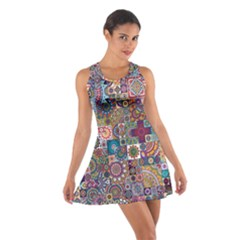 Ornamental Mosaic Background Cotton Racerback Dress