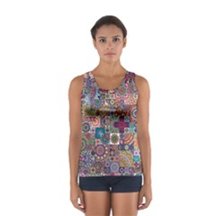 Ornamental Mosaic Background Women s Sport Tank Top