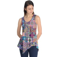 Ornamental Mosaic Background Sleeveless Tunic