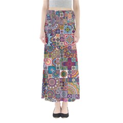 Ornamental Mosaic Background Maxi Skirts
