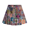 Ornamental Mosaic Background Mini Flare Skirt View1