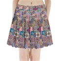 Ornamental Mosaic Background Pleated Mini Skirt View1