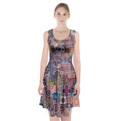 Ornamental Mosaic Background Racerback Midi Dress