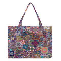 Ornamental Mosaic Background Medium Tote Bag
