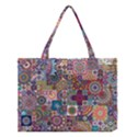 Ornamental Mosaic Background Medium Tote Bag View1