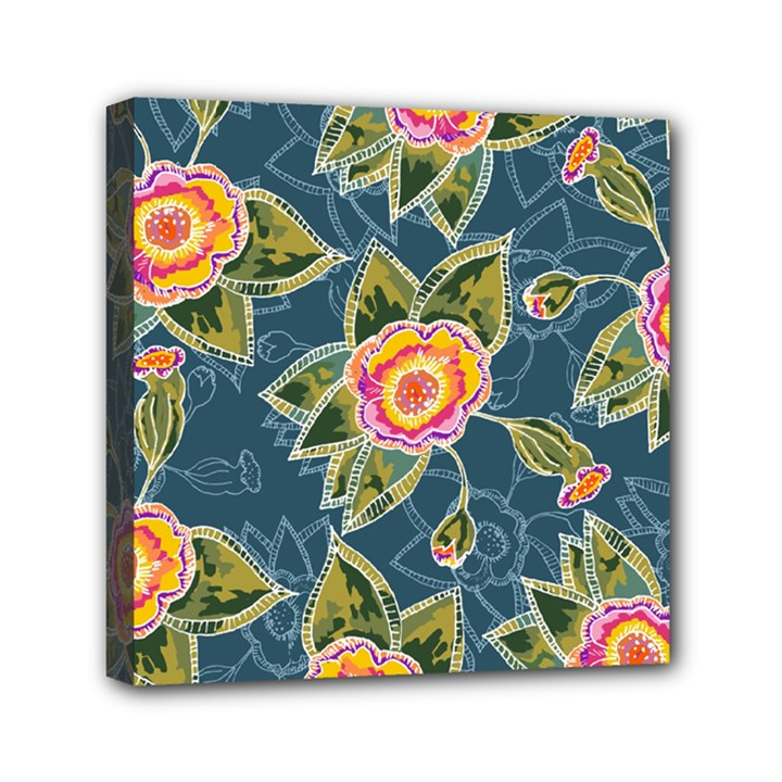 Floral Fantsy Pattern Mini Canvas 6  x 6