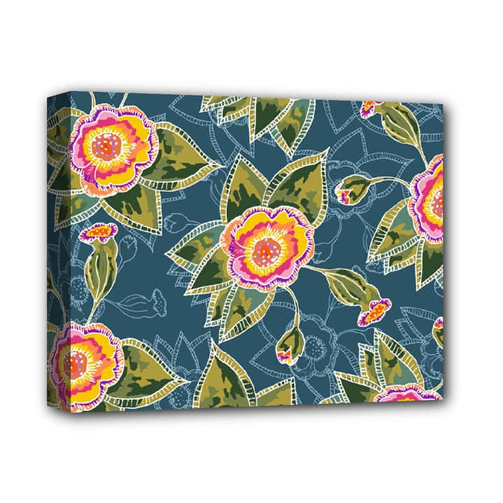 Floral Fantsy Pattern Deluxe Canvas 14  x 11