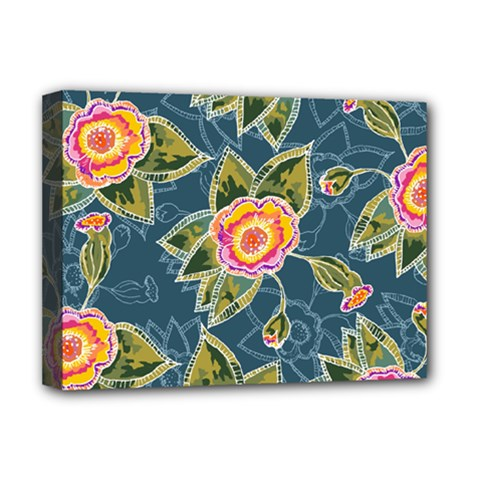 Floral Fantsy Pattern Deluxe Canvas 16  x 12