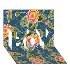 Floral Fantsy Pattern Boy 3d Greeting Card (7x5)