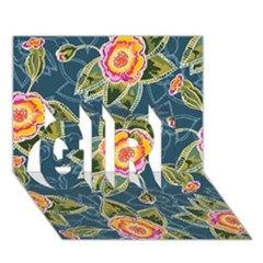 Floral Fantsy Pattern Girl 3d Greeting Card (7x5)