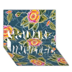 Floral Fantsy Pattern YOU ARE INVITED 3D Greeting Card (7x5)