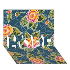 Floral Fantsy Pattern HOPE 3D Greeting Card (7x5)