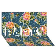 Floral Fantsy Pattern PARTY 3D Greeting Card (8x4)