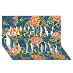 Floral Fantsy Pattern Congrats Graduate 3d Greeting Card (8x4)