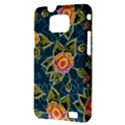 Floral Fantsy Pattern Samsung Galaxy S II i9100 Hardshell Case (PC+Silicone) View3