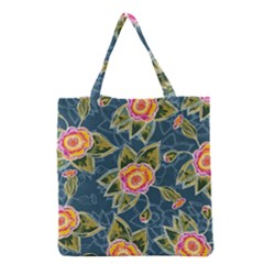 Floral Fantsy Pattern Grocery Tote Bag