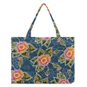 Floral Fantsy Pattern Medium Tote Bag View1