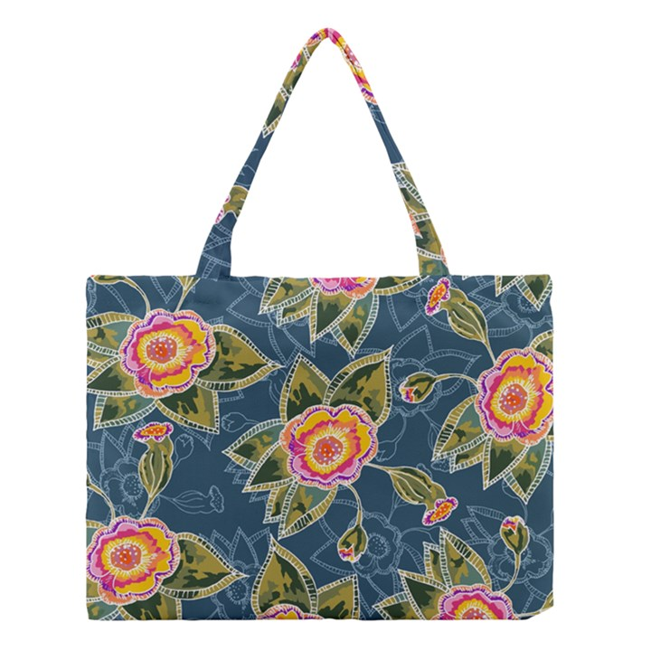 Floral Fantsy Pattern Medium Tote Bag
