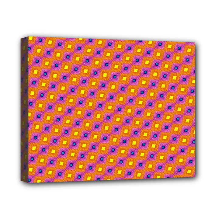 Vibrant Retro Diamond Pattern Canvas 10  x 8