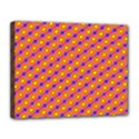 Vibrant Retro Diamond Pattern Canvas 14  x 11  View1