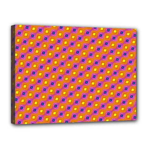 Vibrant Retro Diamond Pattern Canvas 16  x 12