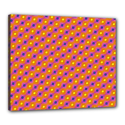 Vibrant Retro Diamond Pattern Canvas 24  X 20